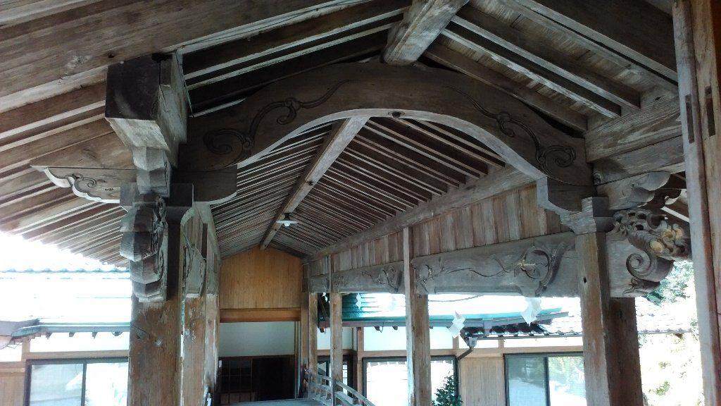 渡り廊下。⑤船底天井