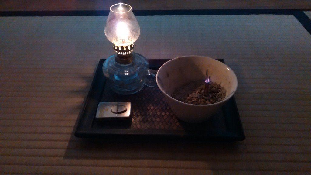 lamp ランプ。瞑想