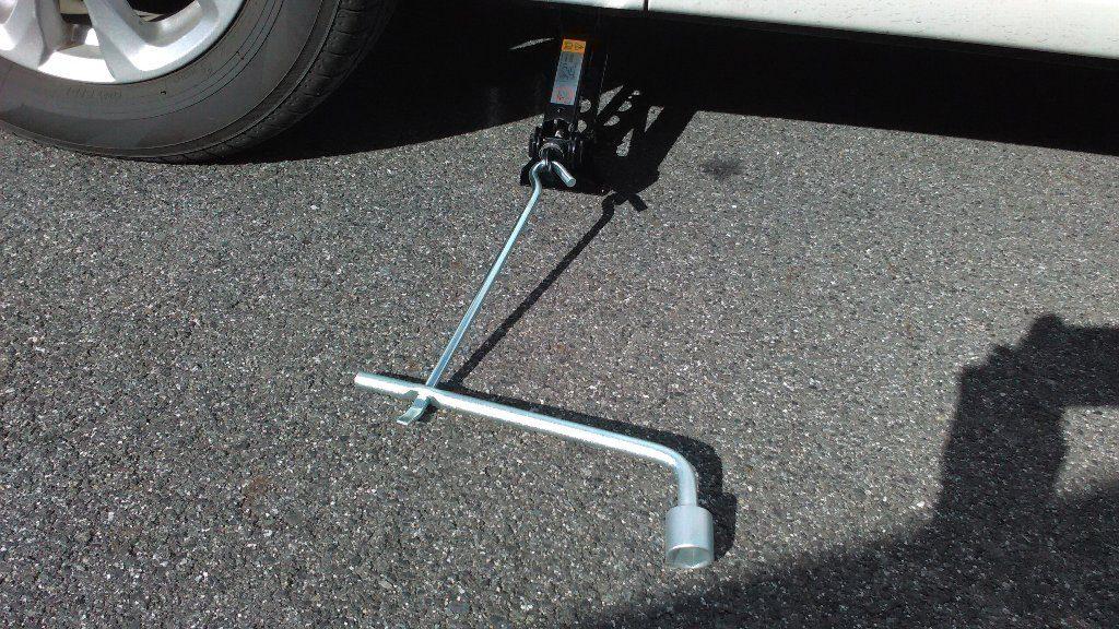 ジャッキの棒。接続方法