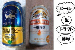 beer ビール。種類