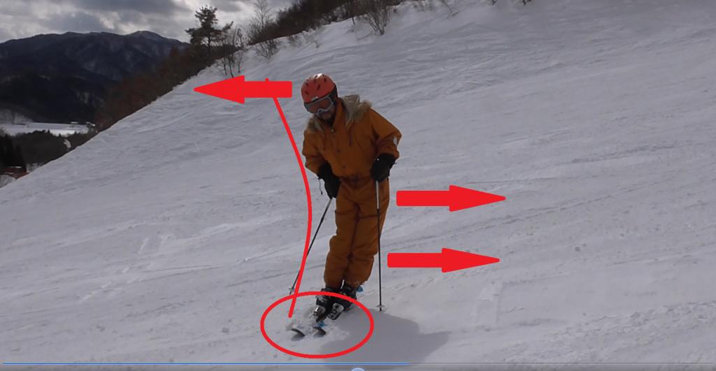 edge sharp both-ski エッジ。立つ。両足スキー。遠景 - コピー