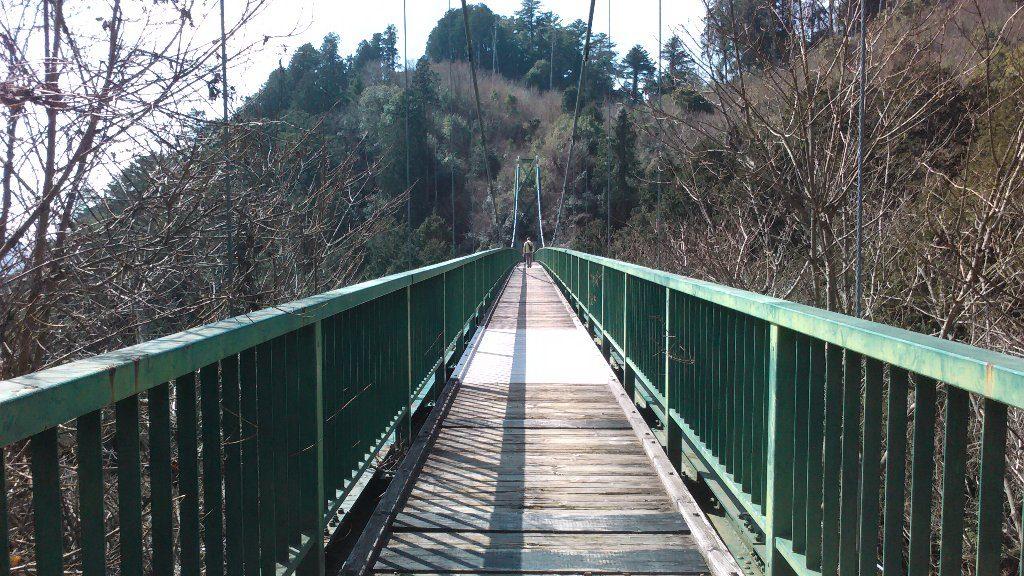吊り橋。中ほど。