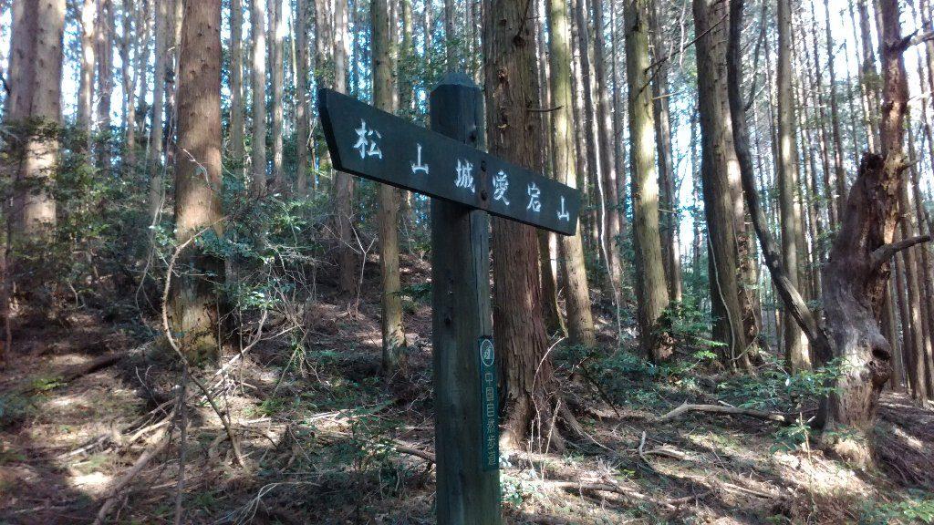 愛宕山への道標
