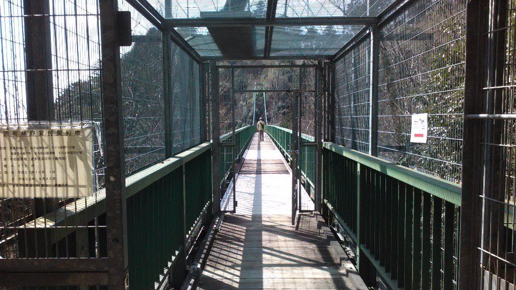 吊り橋。入口2