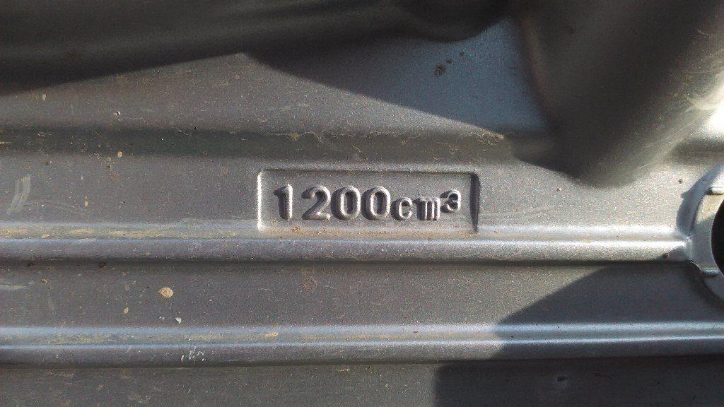oil オイル量。1200cm3