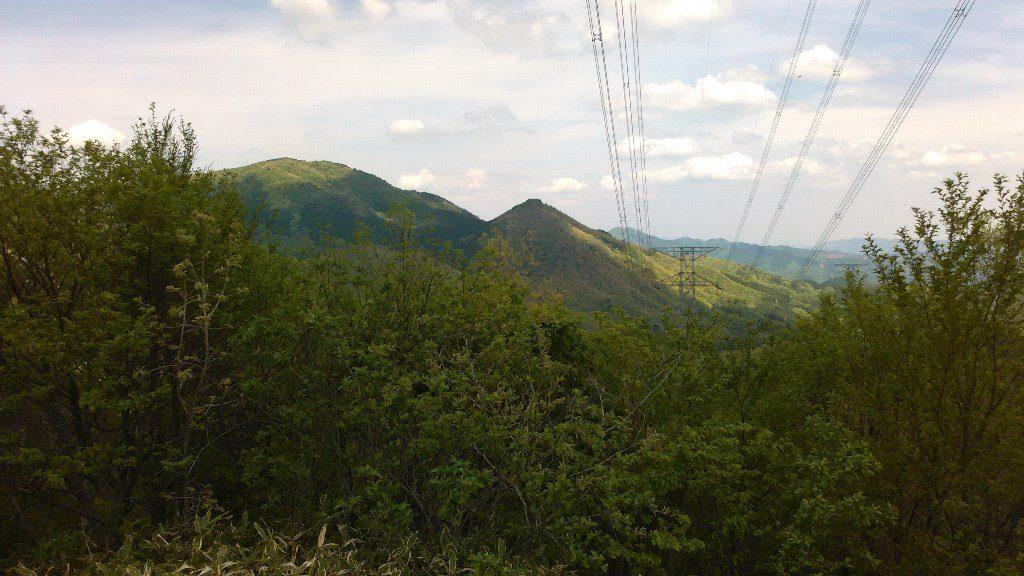 湯谷6から星山1と星山と前山