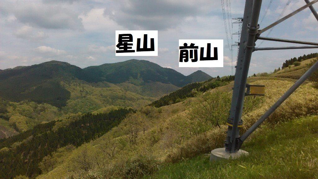 湯谷5下から星山と前山 - コピー