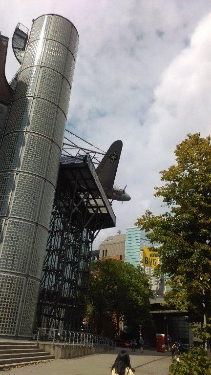 屋上の飛行機