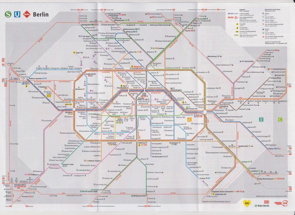 U-Bahn-Netz-Plan 地下鉄路線図
