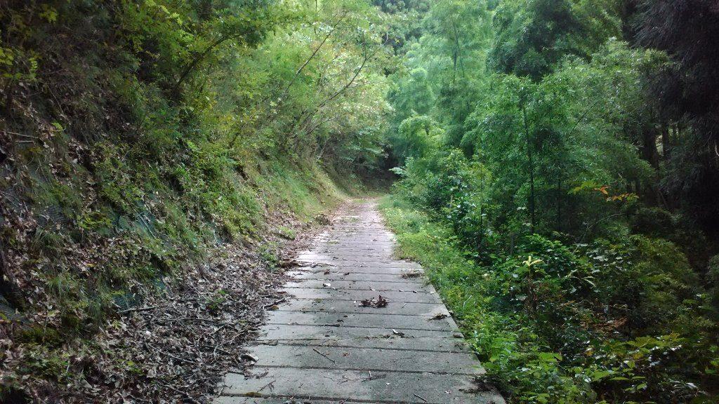 コンクリートの登山道