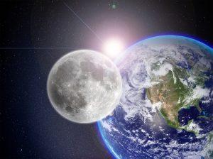 light speed moon earth sun 光の速さ 月と太陽まで