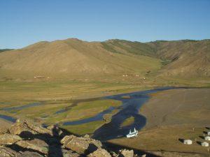 草原。モンゴル