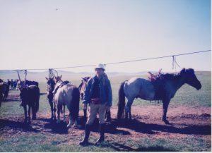 馬繋ぎ場。俊