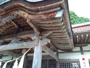 拝殿。垂木
