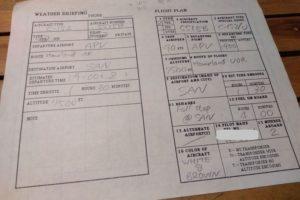 weather briefing flight plan checkride APV SAN masked