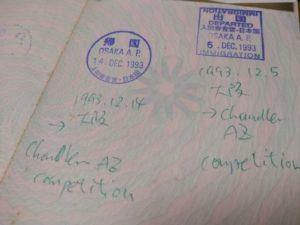 passport osaka 大阪出入国