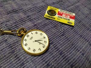 時計と電池
