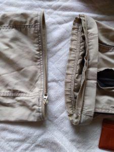 cargo pants カーゴパンツ。切り離し