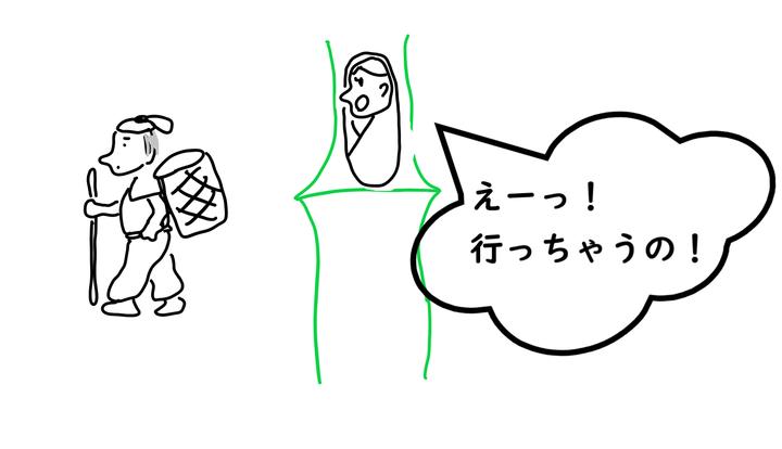 kaguya かぐや姫。おじいさん去る