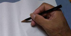 鉛筆。突き刺す2