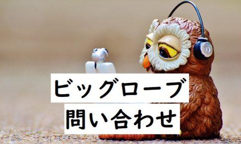 biglobe support 問い合わせ
