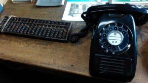 黒電話とソロバン