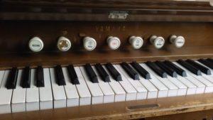 organ keyboard オルガン。鍵盤