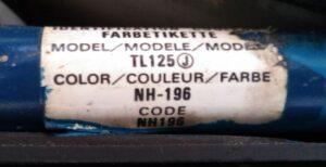 color label カラーラベル。code NH196