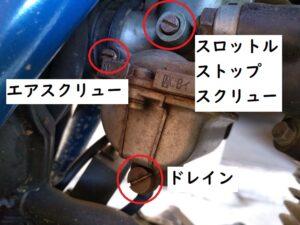 carburetor キャブレター。各部